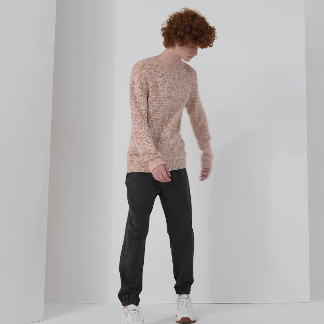 UR2020春季新品男装时尚拼色纹理圆领针织T恤ML39R9BN2002