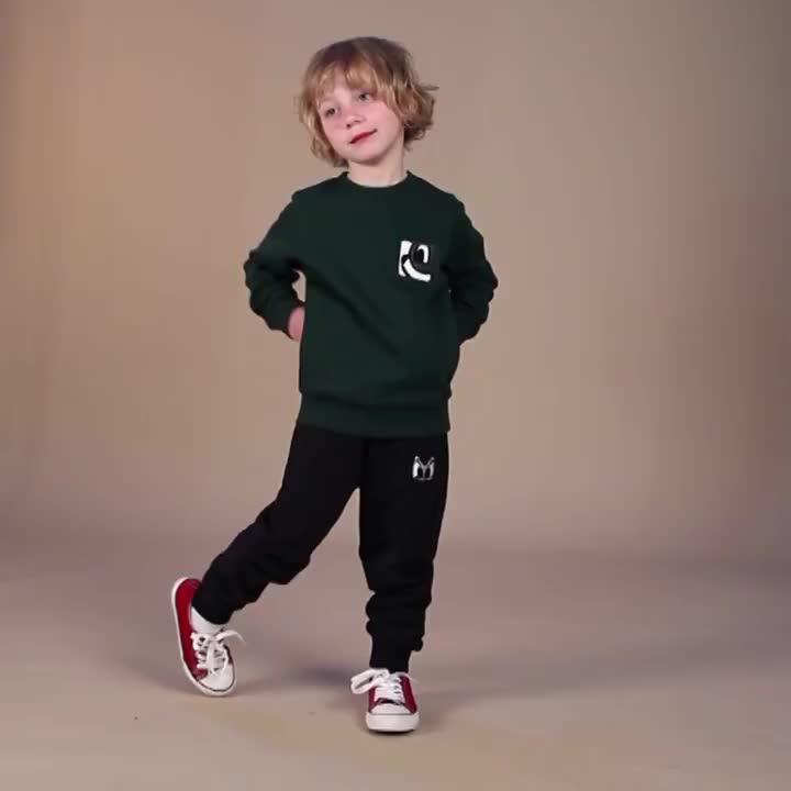 pancoat童装儿童舒适针织打底裤男童女童春秋卡通印花运动休闲裤