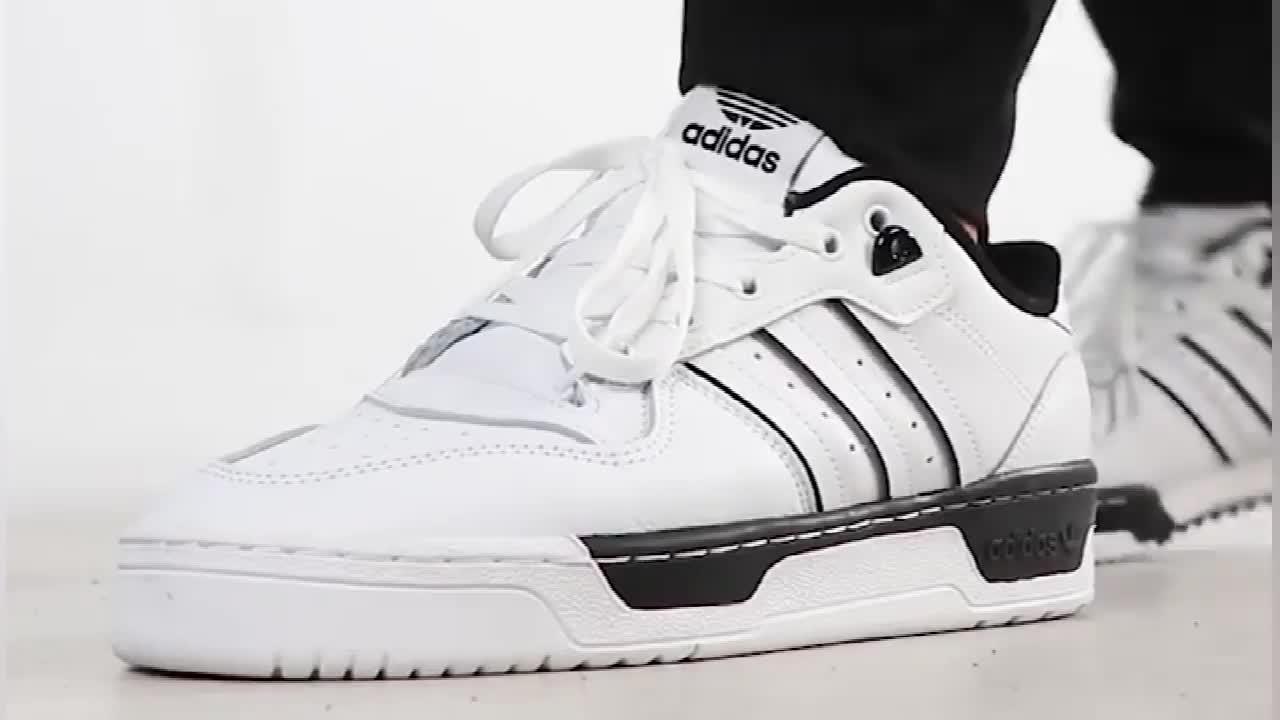 阿迪达斯Adidas RIVALRY LOW 三叶草男女板鞋复古运动鞋舒适流行