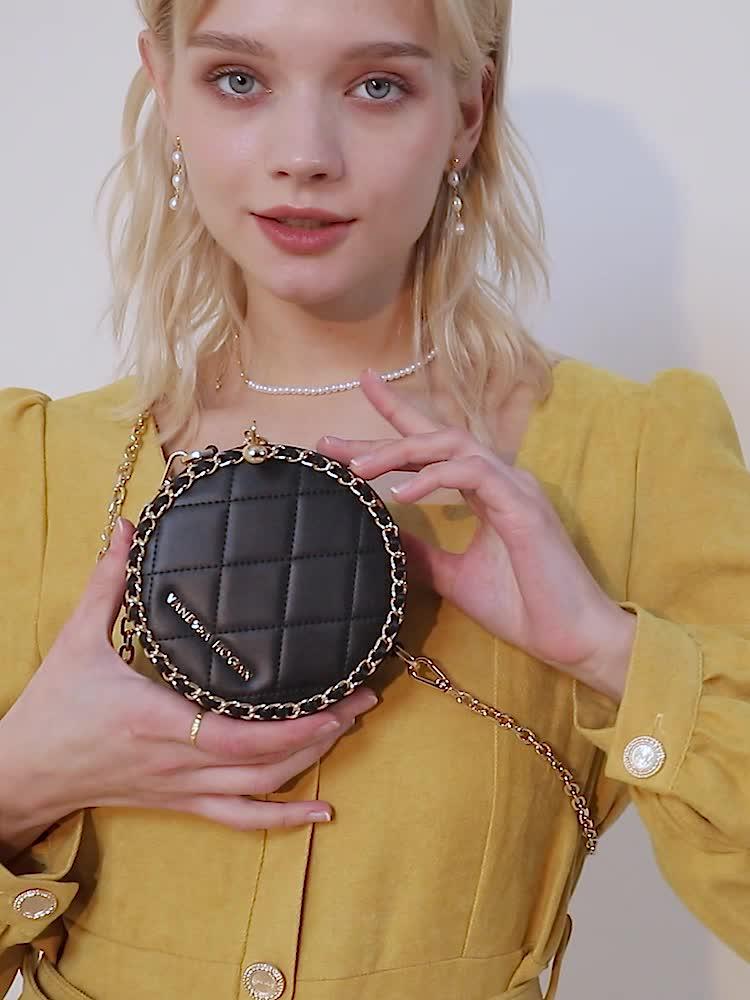 VH包包女包2020新款潮链条单肩包时尚高级感斜挎包洋气个性小方包