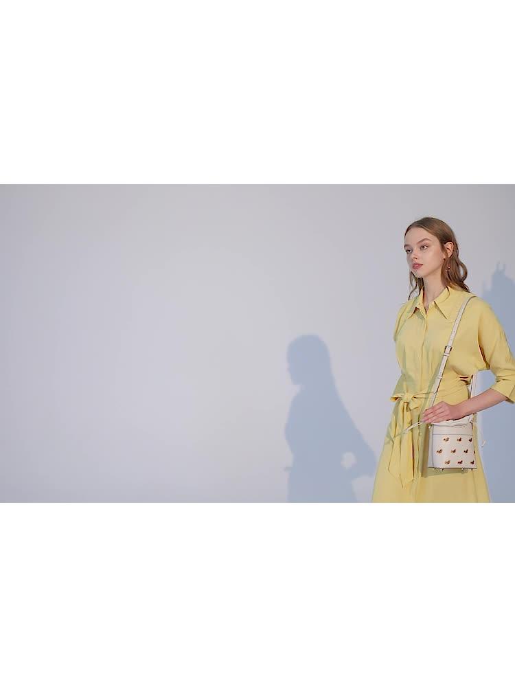 VH女包新款2020时尚松鼠刺绣水桶包本命年包大容量气质单肩斜挎包
