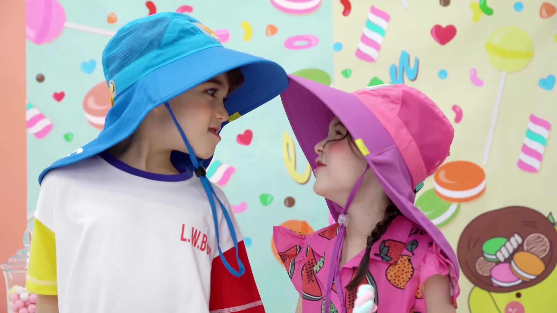 lemonkid柠檬宝宝大帽檐防紫外线太阳帽29002