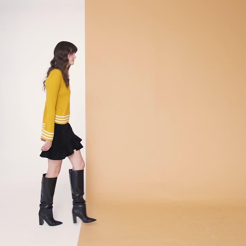 UR2020春季新品女装时尚气质简约纯色尾半裙WH44R5HN2000